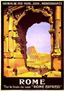 "Vintage ""Rome Express"" Travel Poster"